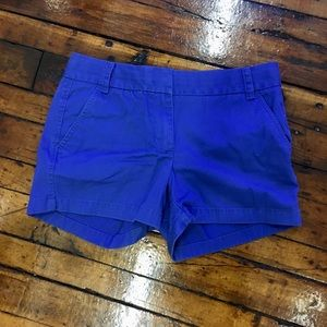 J crew Chino broken-in 100% cotton size 4 shorts